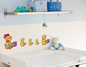 Duck Family-Wall Decal Stickers-Style and Apply