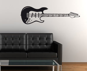 E-Guitar-Wall Decal Hangers-Style and Apply