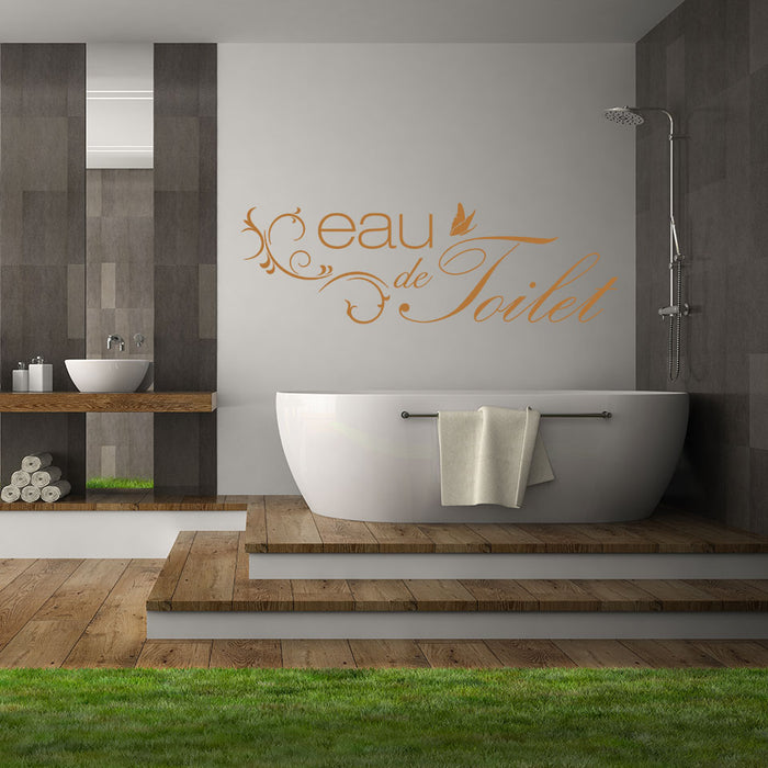 Eau de Toilet Wall Decal