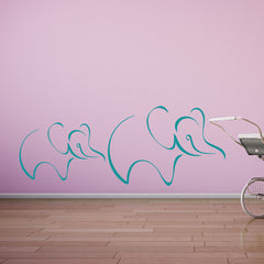 Elephants-Wall Decal