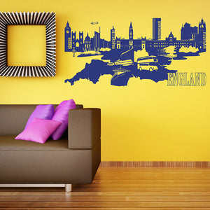 England Map Wall Decal