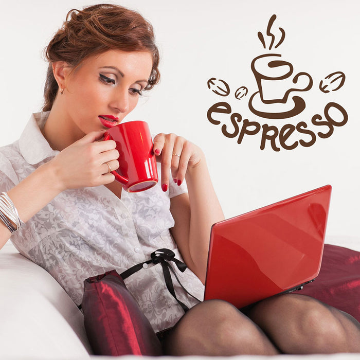 Espresso Wall Decal