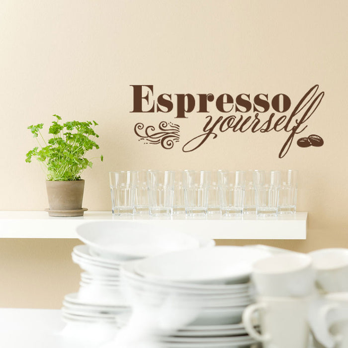 Espresso Yourself Wall Decal