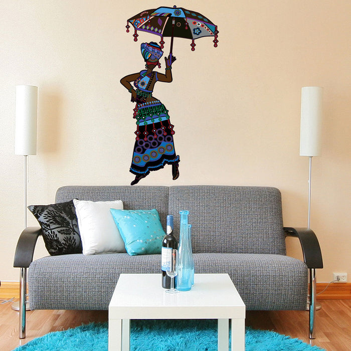 Ethnic Fashion Wall Decal