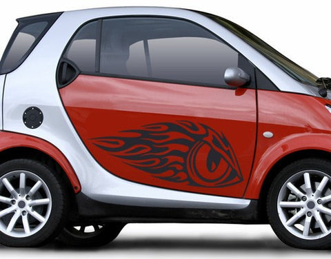 Eye-Flame-Car Decals-Style and Apply