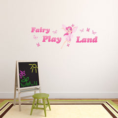 Fairy Play Land-Wall Decal Stickers-Style and Apply