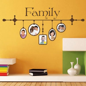 Family Picture Frame II-Wall Decal