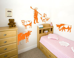 Farm Set Decal-Wall Decals-Style and Apply