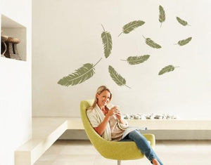 Feathers Decal-Wall Decals-Style and Apply