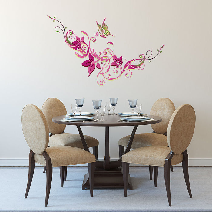 Filigran Blossoms Wall Decal