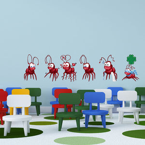 Fire Ants Set-Wall Decal Stickers-Style and Apply