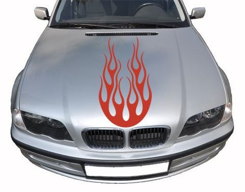 Flames-Car Decals-Style and Apply