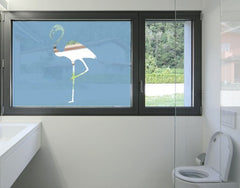 Flamingo-Window Decals-Style and Apply