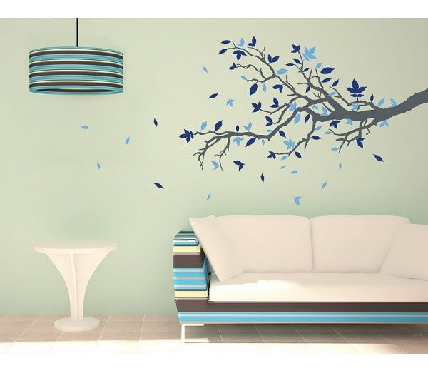 Floral Branch Decal-Wall Decals-Style and Apply