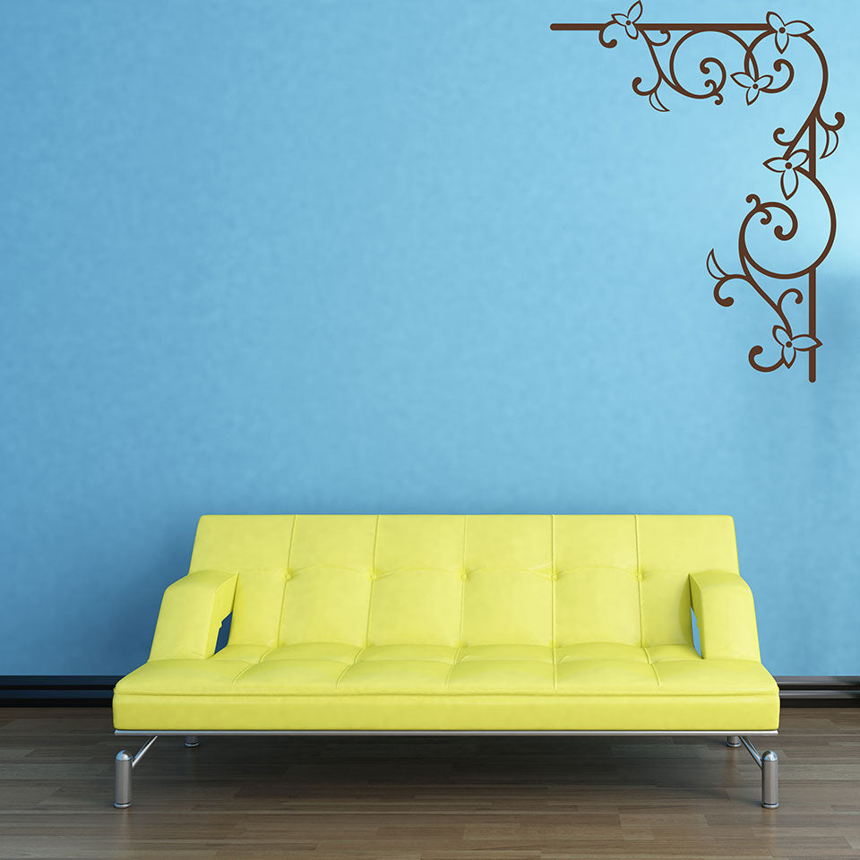 Floral Corner Wall Decal – Style and Apply