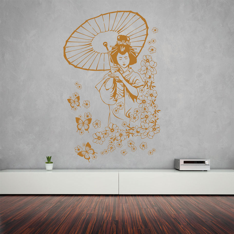 Floral Geisha-Wall Decal