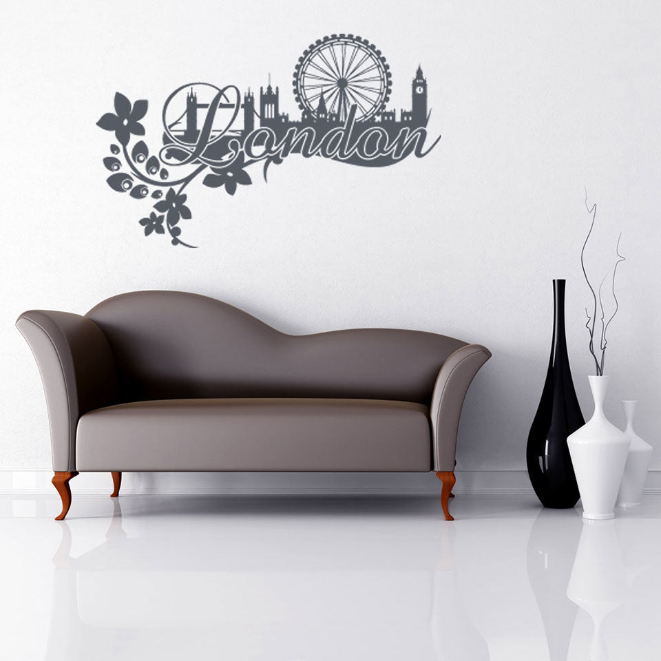 London Floral Decal