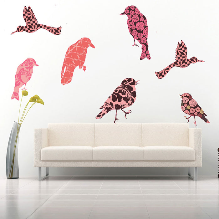 Flower-Bird Wall Decal Set