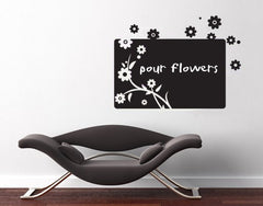 Flower Board-Blackboard and Whiteboard Wall Decals-Style and Apply