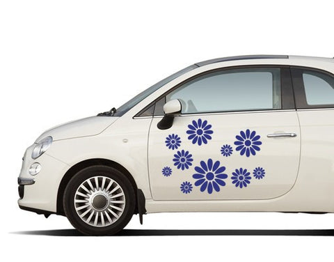 Flower-Car Decals-Style and Apply