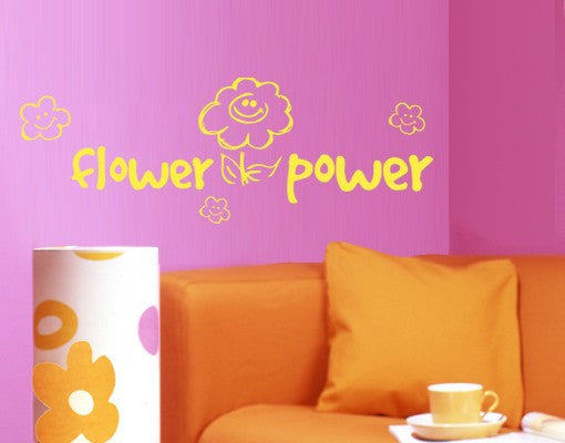 Flower Power-Wall Decals-Style and Apply