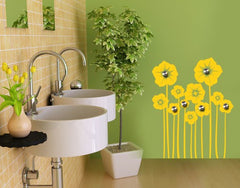 Flower Stem-Wall Decal Hangers-Style and Apply