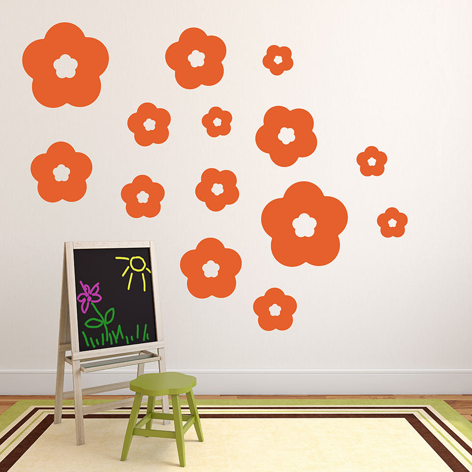 Flower Rain Wall Decal-Wall Decals-Style and Apply