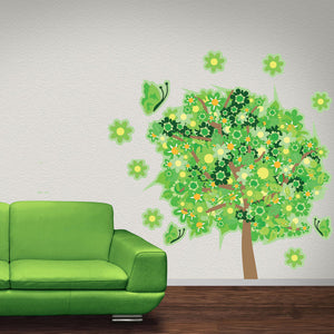 Flower Tree Wall Decal Sticker