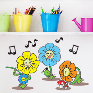 Flower Trio-Wall Decal Sticker
