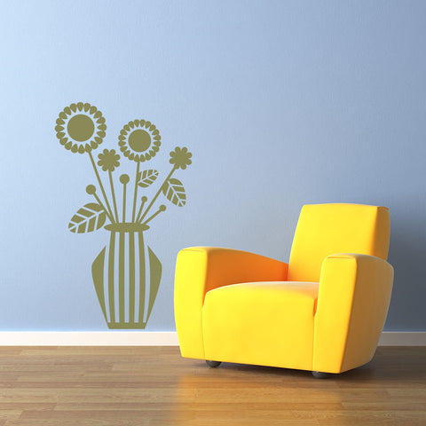 Flower Vase Wall Decal