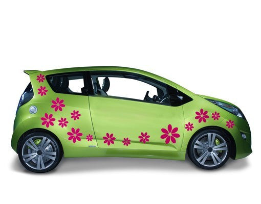 Flowers-Car Decals-Style and Apply