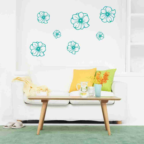 Flowers Wall Decal-Wall Decals-Style and Apply