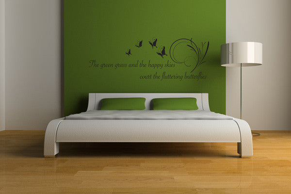 Fluttering Butterflies Wall Quote-Wall Decals-Style and Apply