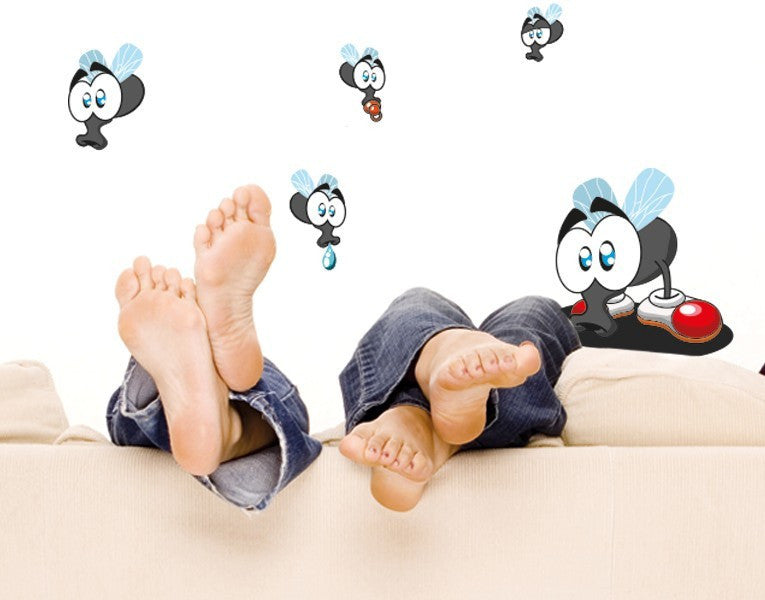 Fly Family Sticker-Wall Decal Stickers-Style and Apply