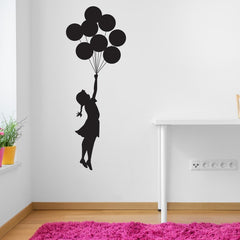 Flying Balloon Girl Banksy Wall Decal-Wall Decals-Style and Apply