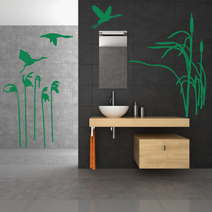 Flying Storks Wall Decal-Wall Decals-Style and Apply
