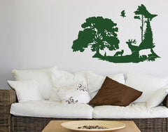 Forest Clearing-Wall Decals-Style and Apply