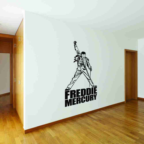 Freddie Mercury Wall Decal-Wall Decals-Style and Apply