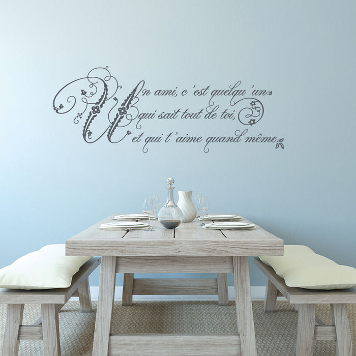 A Friend Wall Decal Quote
