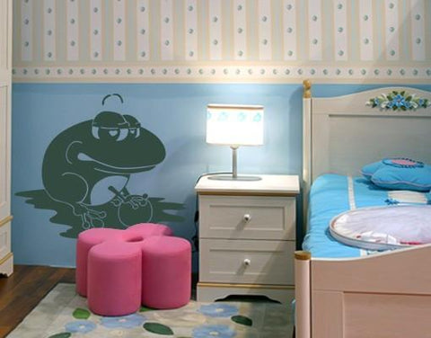 Frog King Decal-Wall Decals-Style and Apply