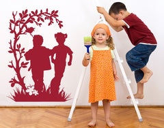 Frolicking Kids-Wall Decals-Style and Apply