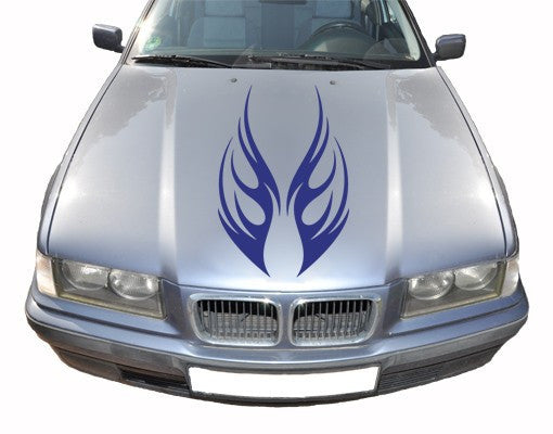 Front Tribal2-Car Decals-Style and Apply