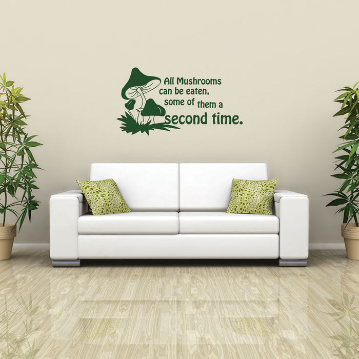 Funny Mushrooms Wall Decal