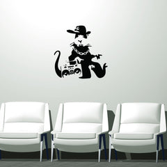 Gangsta Rat Banksy Wall Decal-Wall Decals-Style and Apply