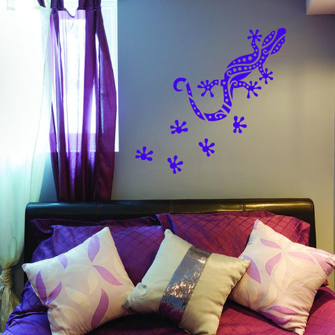 Gecko Ornamental Wall Decal