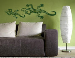 Geckos II-Wall Decals-Style and Apply