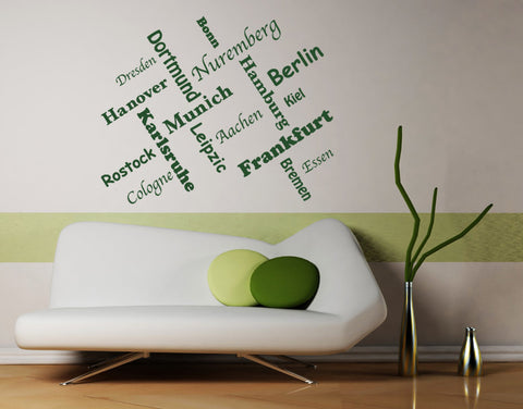 German Cities Decal-Wall Decals-Style and Apply