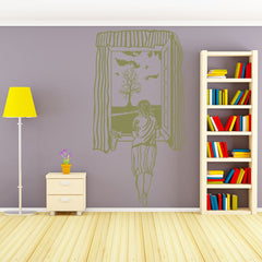 Girl at Window-Wall Decal