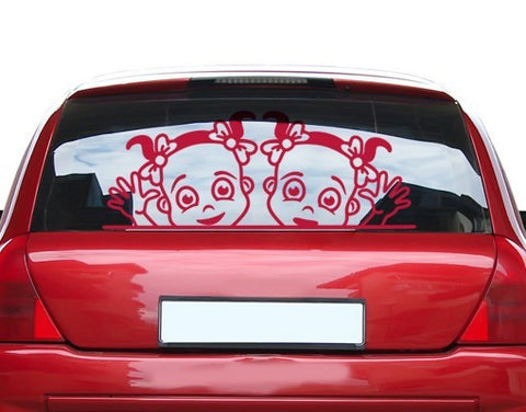 Girls At The Window-Car Decals-Style and Apply