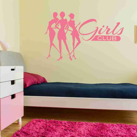 Girls Club Wall Decal-Wall Decals-Style and Apply